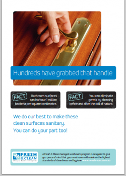 A3 Hygiene Poster: Hundreds have grabbed that handle