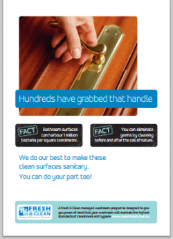 A4 Hygiene Poster: Hundreds have grabbed that handle
