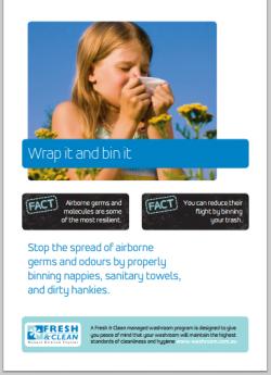 A3 Hygiene Poster: Wrap it and bin it