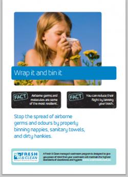 A4 Hygiene Poster: Wrap it and bin it