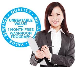 Fresh and Clean washroom promo logo