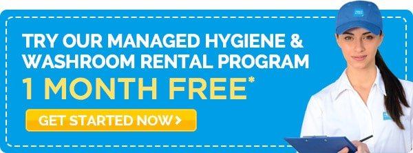 1 MONTH FREE hygiene and washroom rental program