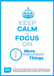 Calm and focus poster
