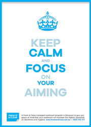 Keep calm and focus poster