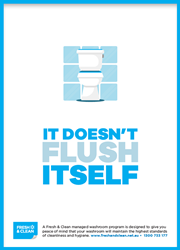 Doesn't flush itself poster