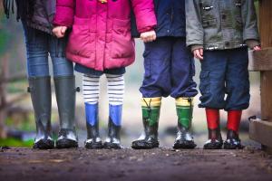 Children standing
